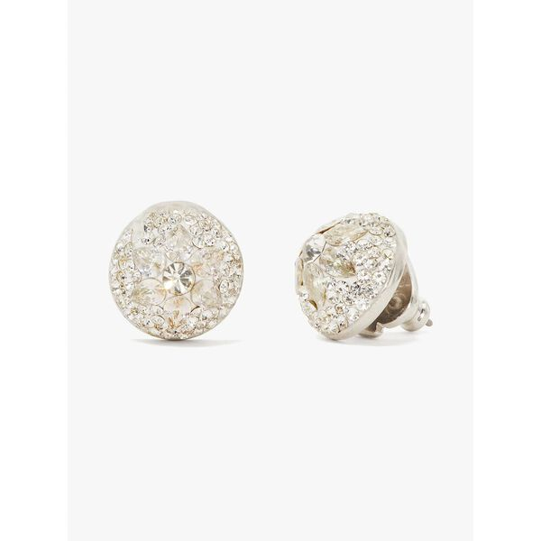 brilliant statements motif dome studs, CLEAR/SILVER, hi-res