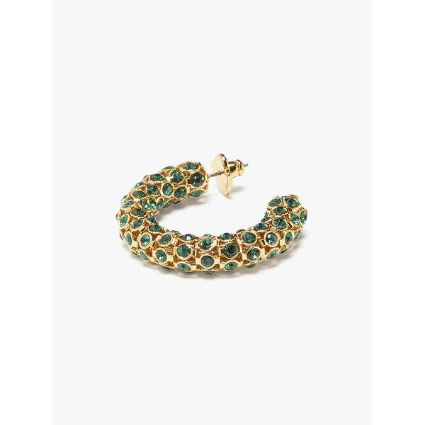 adore-ables hoops, emerald, hi-res