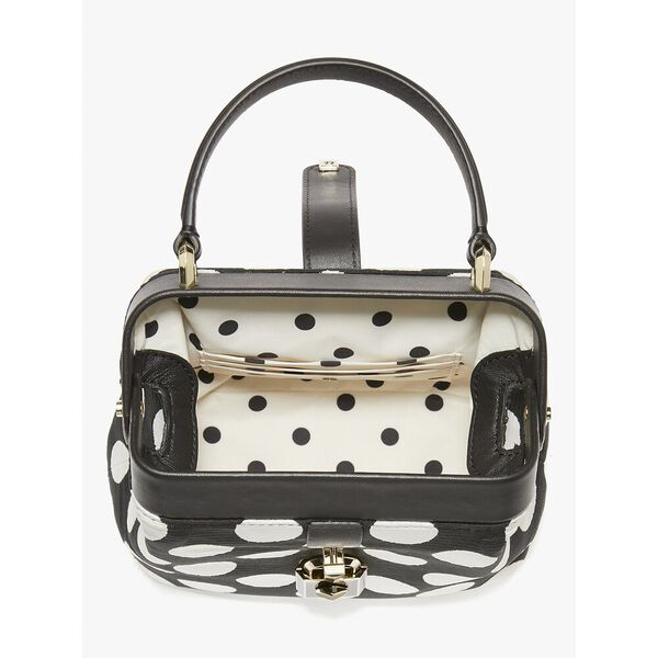 remedy bikini dot small top-handle bag, black multi, hi-res