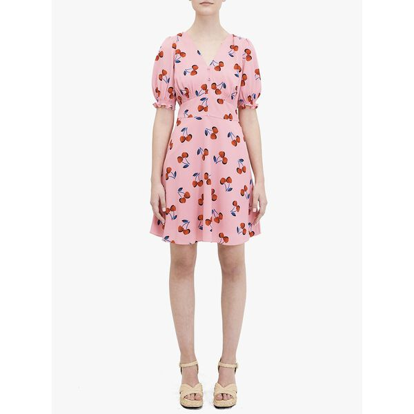 cherry toss dress, ROSY CARNATION, hi-res