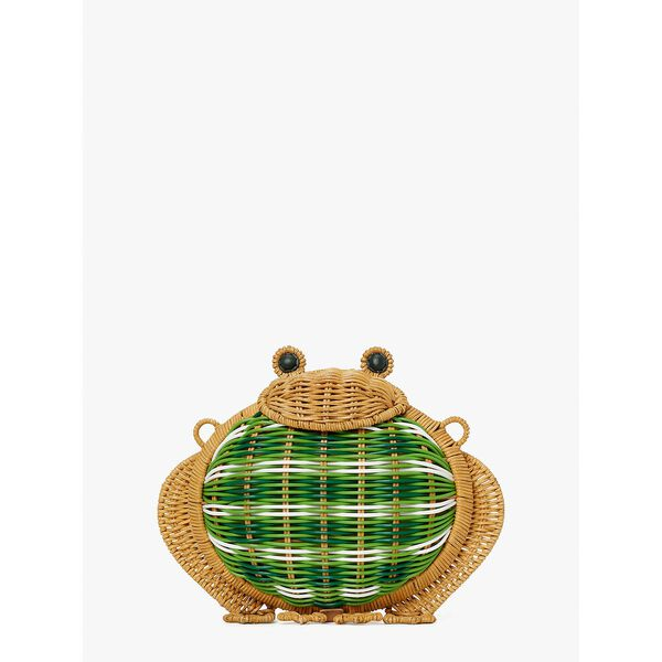 hoppkins wicker frog crossbody