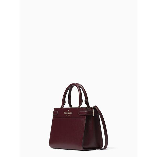 staci small satchel, cherry wood, hi-res