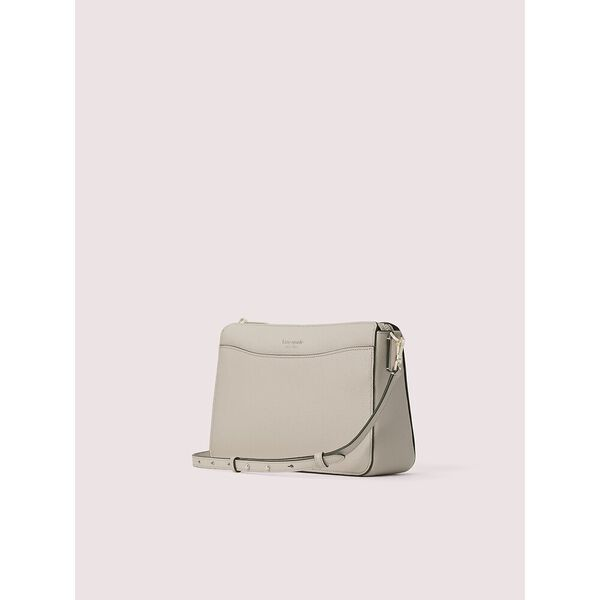margaux large zip top crossbody, true taupe, hi-res