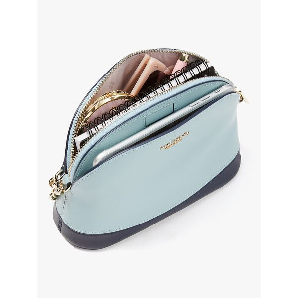spencer dainty bloom small dome crossbody, optic white multi, hi-res