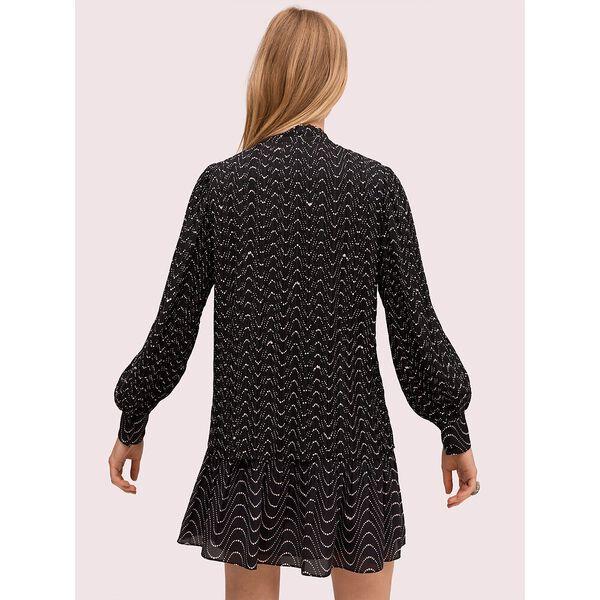 wavy dot blouse, black, hi-res