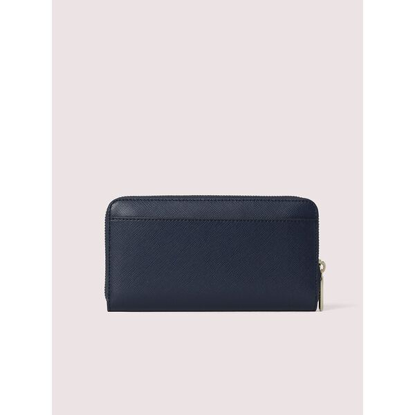 spencer zip-around continental wallet, blue, hi-res