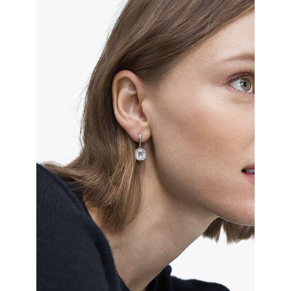 brilliant statements pavé drop earrings, clear/silver, hi-res