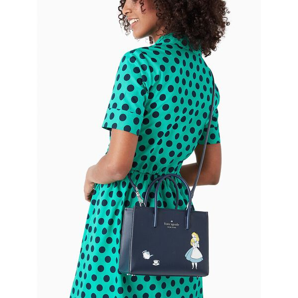 disney x kate spade new york alice in wonderland shopper crossbody bag, multi, hi-res