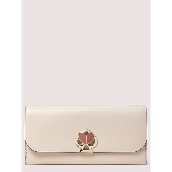 nicola twistlock flap continental wallet, BLUSH, hi-res
