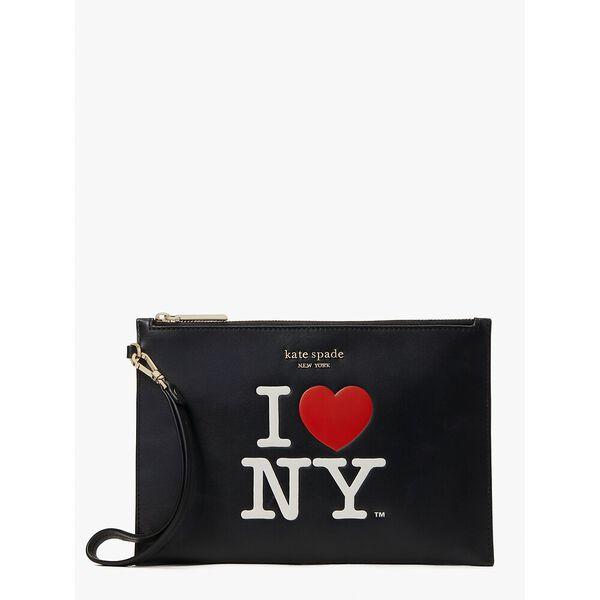 i heart ny x kate spade new york pouch wristlet