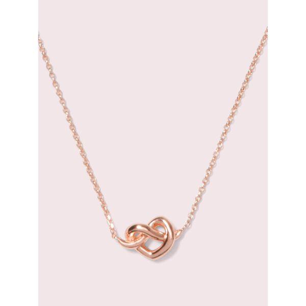 loves me knot mini pendant, rose gold, hi-res