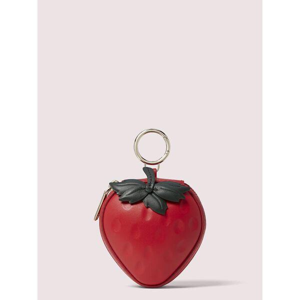picnic strawberry coin purse