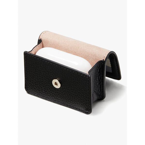 knott gingham airpods pro case, black multi, hi-res