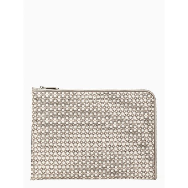 spade link l-zip universal laptop sleeve, white multi, hi-res