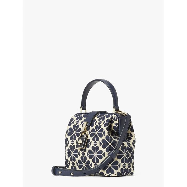 spade flower jacquard remedy small top-handle bag, blue multi, hi-res