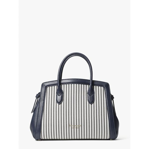 knott stripe medium satchel