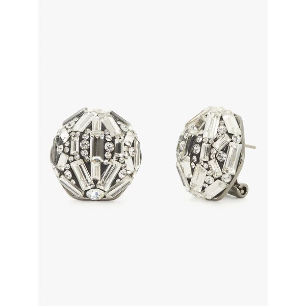 brilliant statements baguette statement studs, CLEAR, hi-res