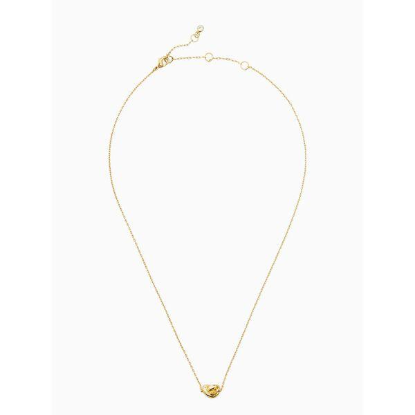 sailor's knot mini pendant, GOLD, hi-res