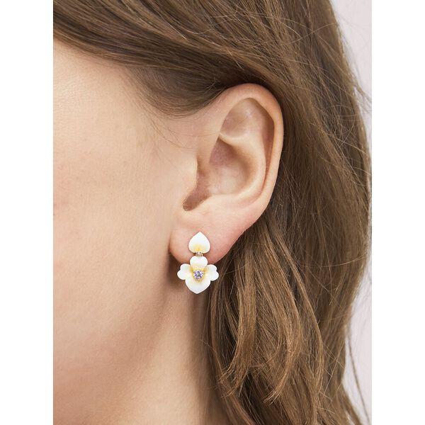 precious pansy drop earrings, YELLOW MULTI, hi-res