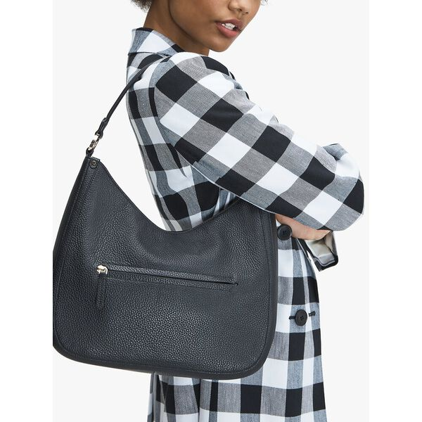 roulette large hobo bag, BLACK, hi-res