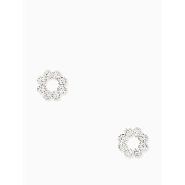 full circle studs, CLEAR/SILVER, hi-res