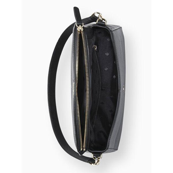 jackson medium flap shoulder bag, BLACK, hi-res
