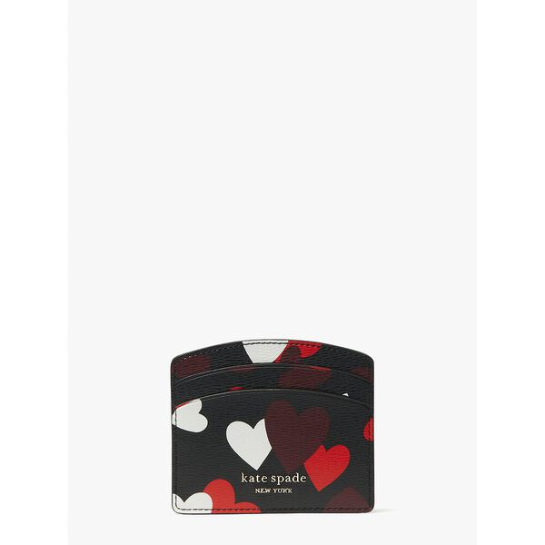 spencer celebration hearts cardholder, black multi, hi-res