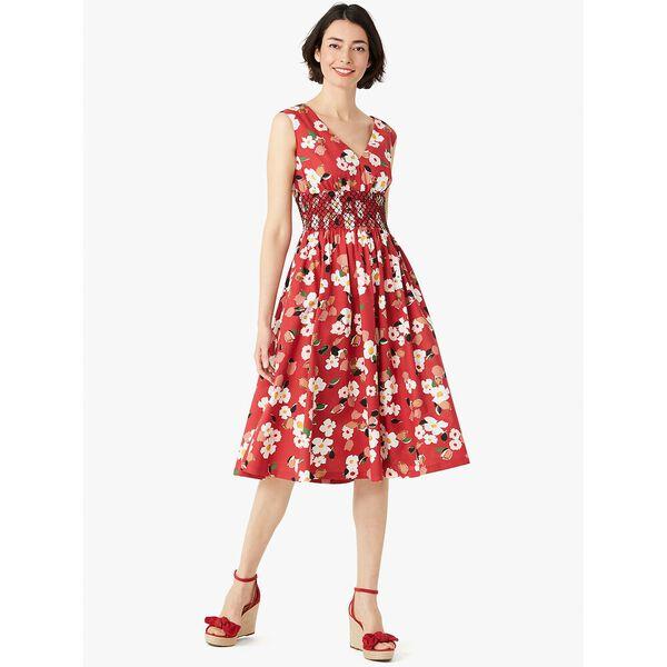 botanical garden poplin dress