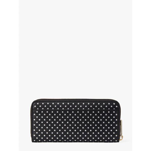 spencer metallic dot slim continental wallet, black multi, hi-res
