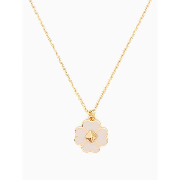 spades & studs enamel mini pendant, chalk pink, hi-res