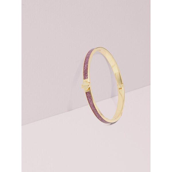 heritage spade glitter thin enamel spade bangle, pink, hi-res