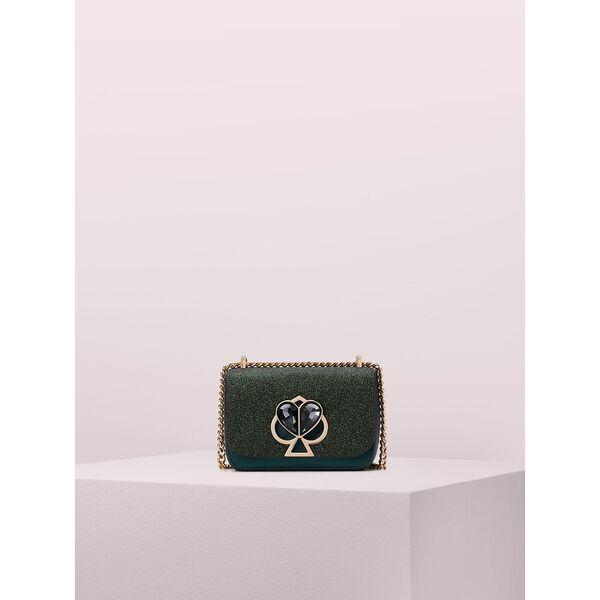 nicola glitter twistlock small convertible chain shoulder bag