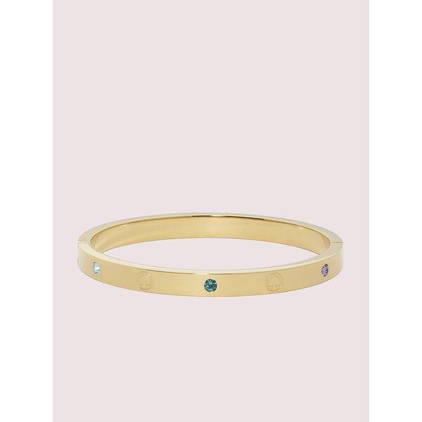 infinite spade engraved spade bangle, GOLD MULTI, hi-res