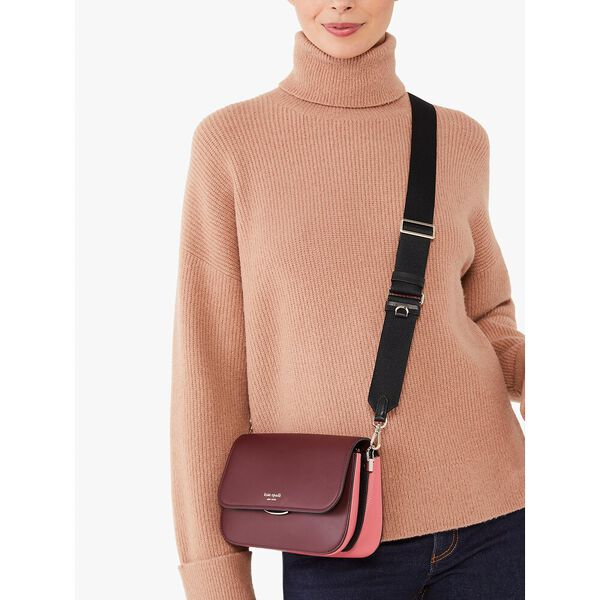 buddie colorblocked medium shoulder bag, grenache multi, hi-res