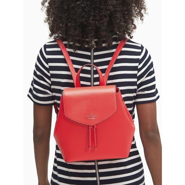 lizzie medium flap backpack, geranium, hi-res
