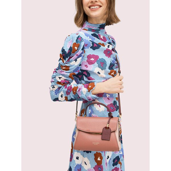 grace small top handle satchel, tinted rose multi, hi-res