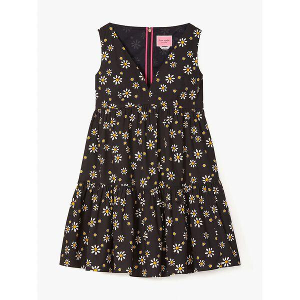 daisy dots vineyard dress, black, hi-res