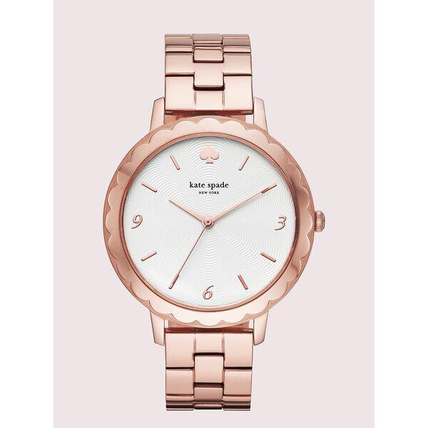morningside scallop rose gold-tone bracelet watch