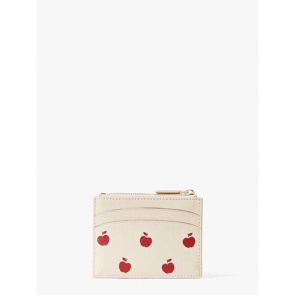 spencer apple toss coin cardholder, milk glass multi, hi-res