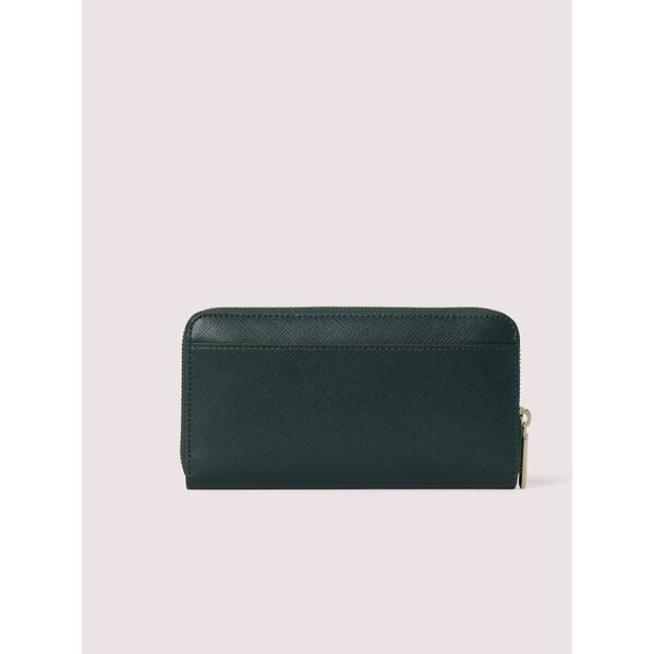 spencer zip-around continental wallet, deep evergreen, hi-res