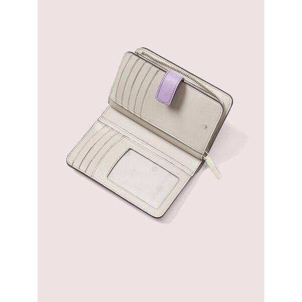 spencer compact wallet, iris bloom, hi-res
