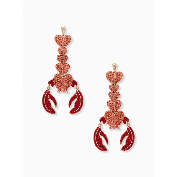 love lobster statement earrings, red multi, hi-res