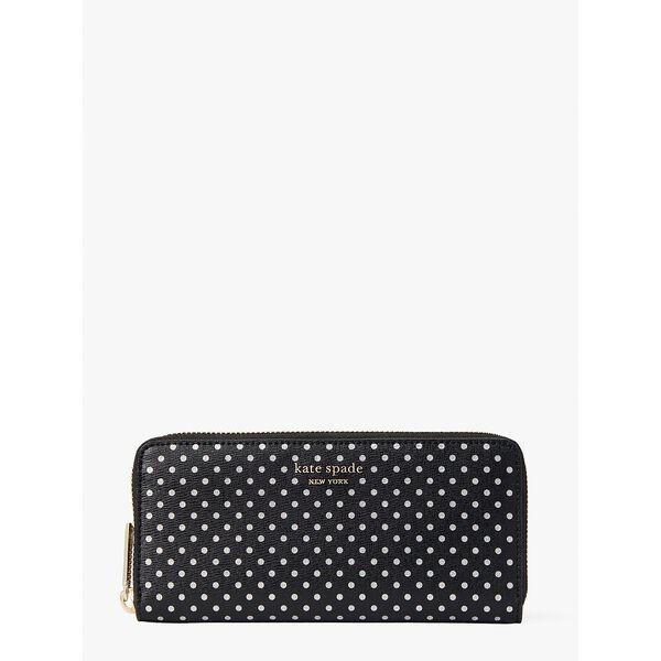 spencer metallic dot slim continental wallet