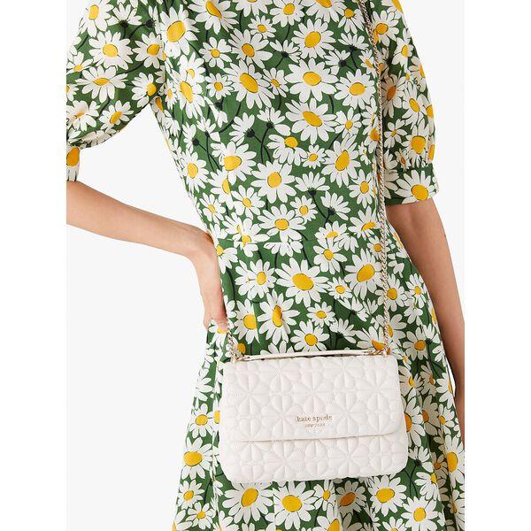 bloom small flap shoulder bag, powder, hi-res