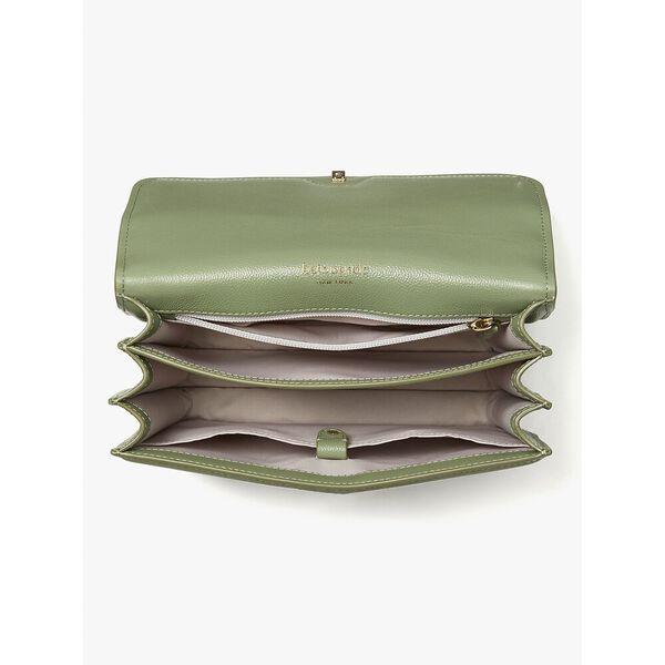 locket large flap shoulder bag, romaine, hi-res