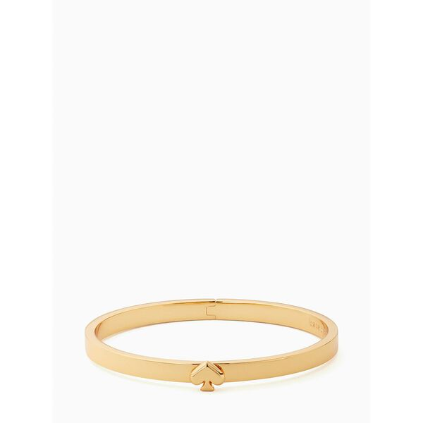 everyday spade thin metal bangle, gold, hi-res