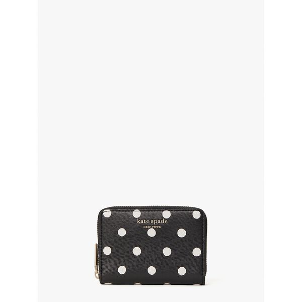 spencer sunshine dot zip cardholder, black multi, hi-res