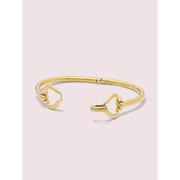 spade link bangle, gold, hi-res