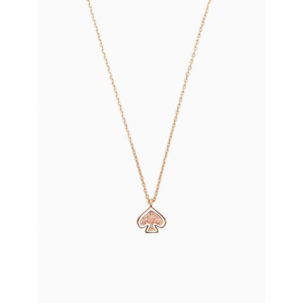 everyday spade glitter enamel mini pendant