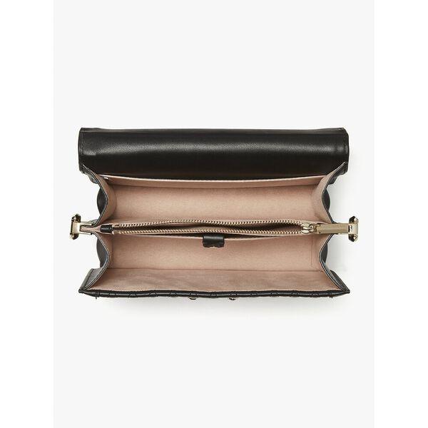 harmony quilt small shoulder bag, black, hi-res